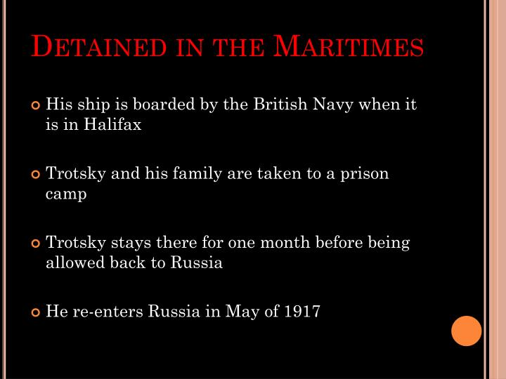 Detained in the Maritimes