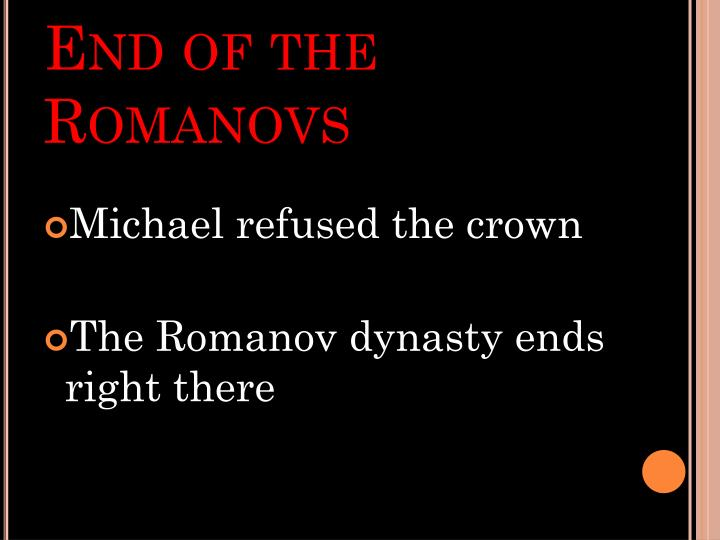 End of the Romanovs