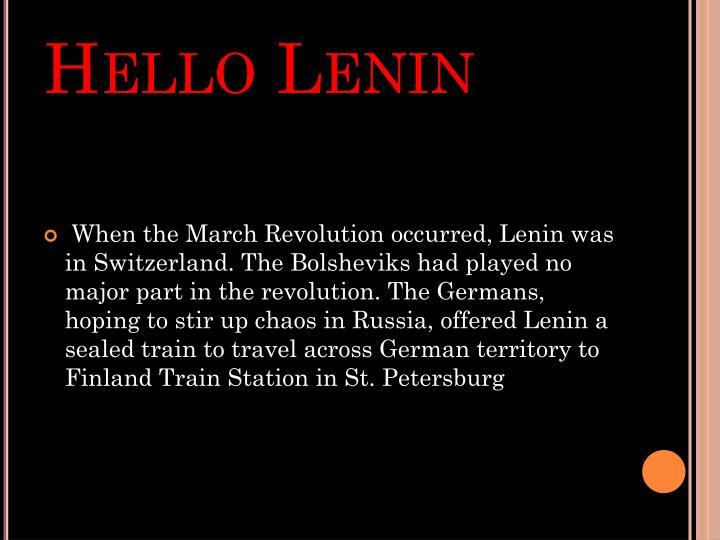 Hello Lenin
