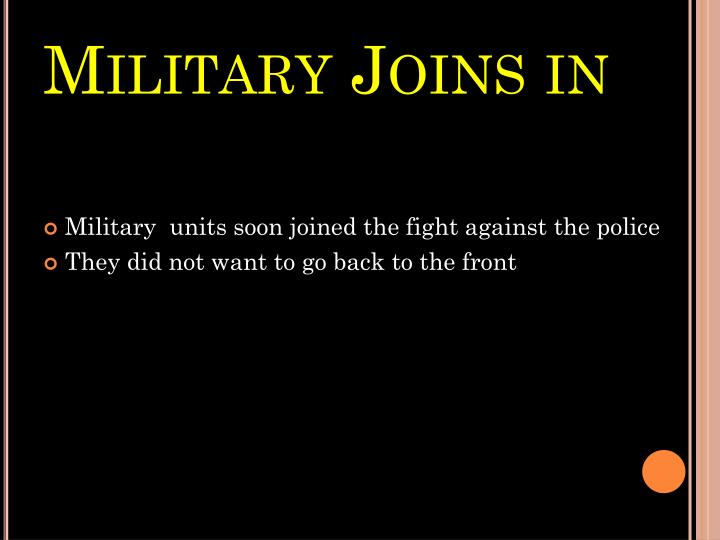 Military Joins in