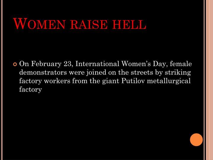 Women raise hell