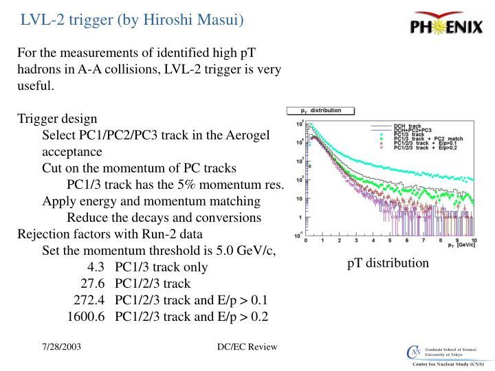 LVL-2 trigger (by Hiroshi Masui)