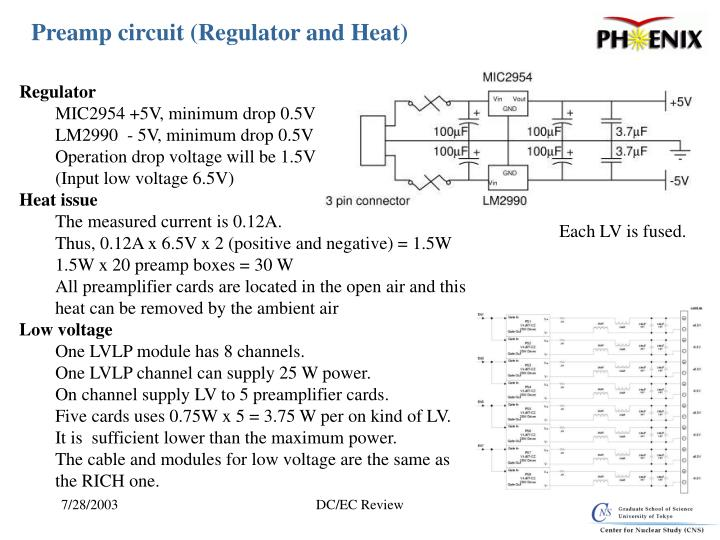 Preamp circuit (Regulator and Heat)