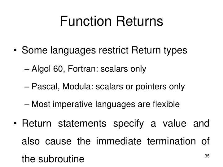 Function Returns