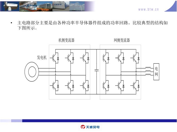 主电路部分主要是由各种功率半导体器件组成的功率回路。比较典型的结构如下图所示