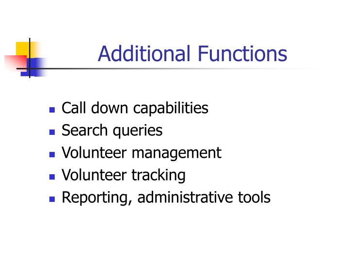 Additional Functions