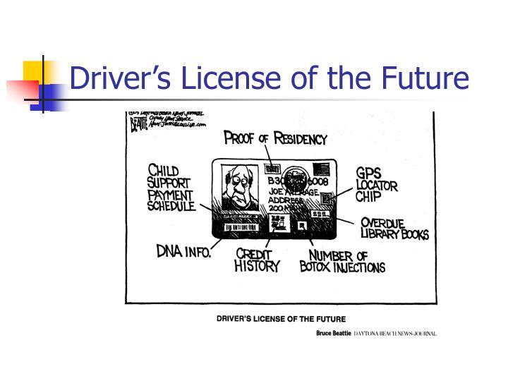 Driver's License of the Future