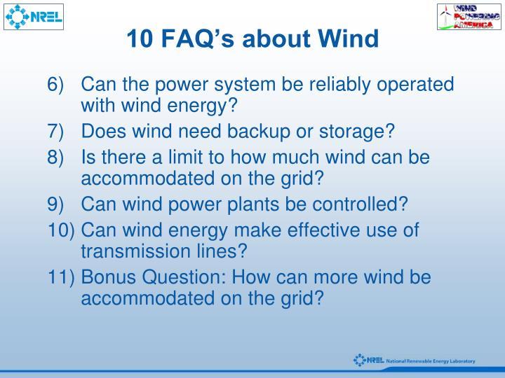 10 FAQ's about Wind