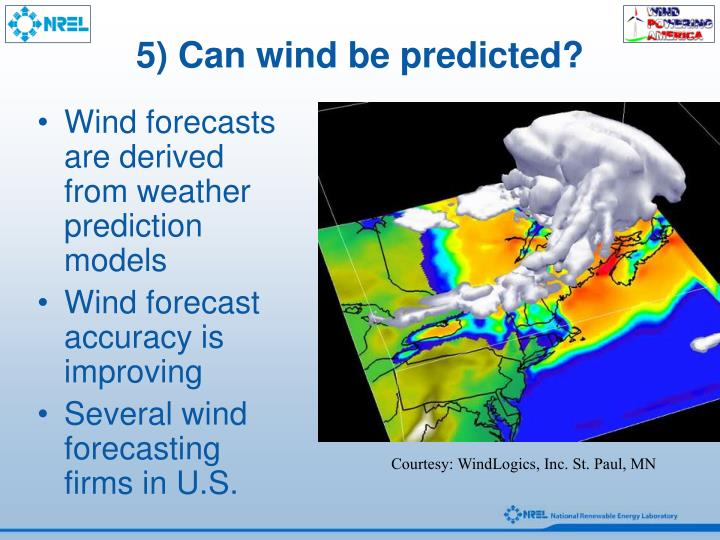 5) Can wind be predicted?
