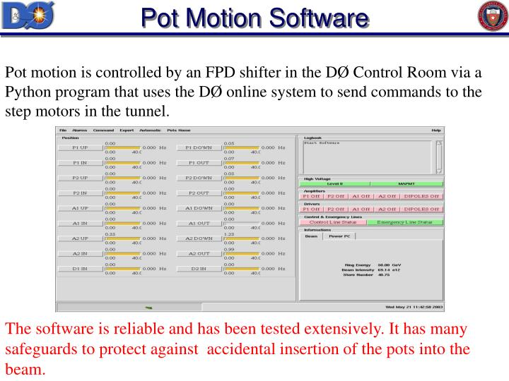 Pot Motion Software