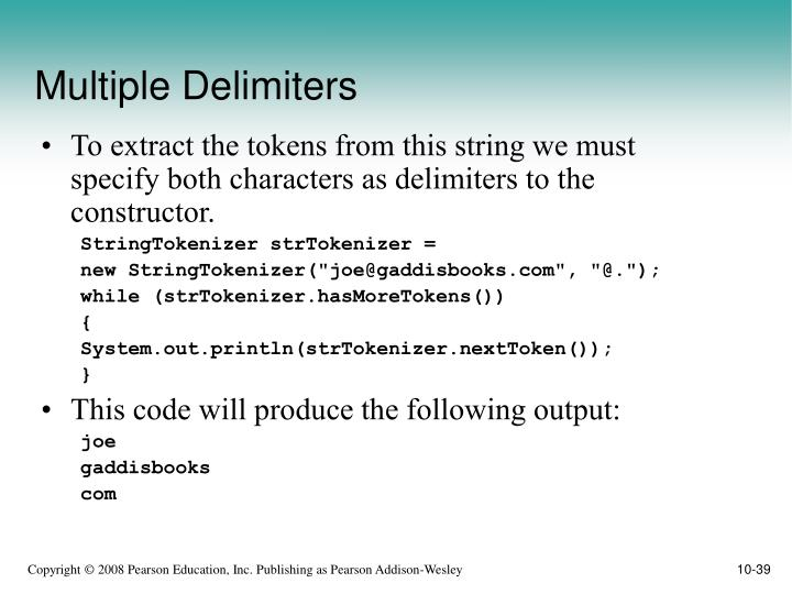 Multiple Delimiters