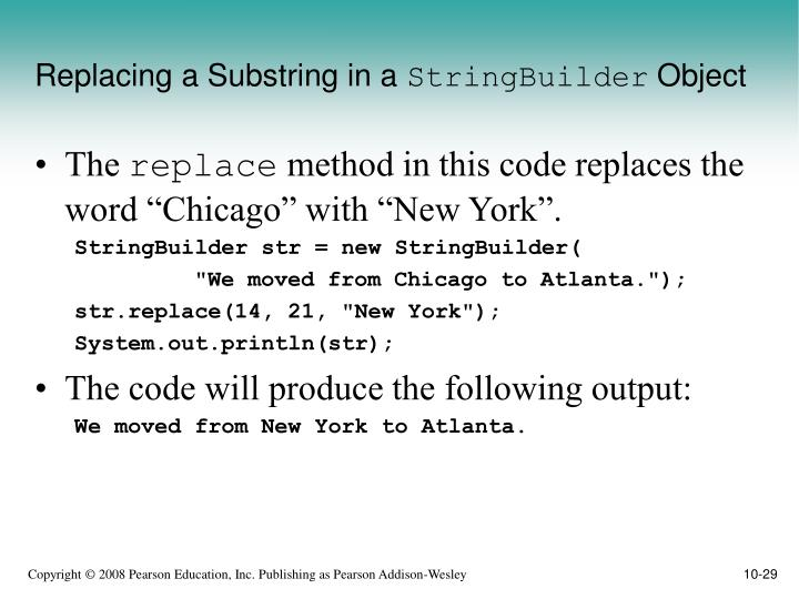 Replacing a Substring in a