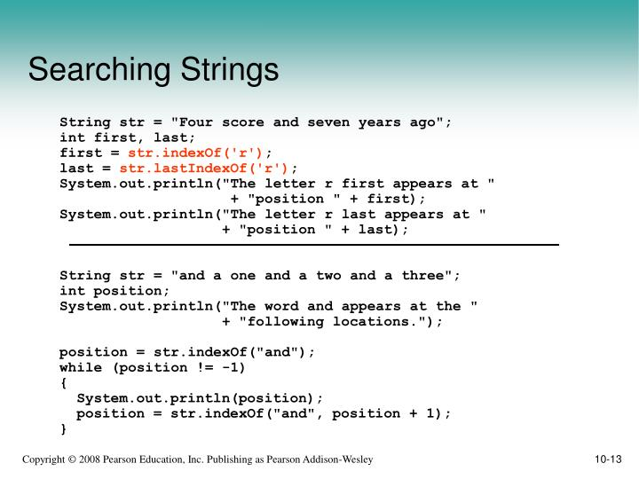 Searching Strings
