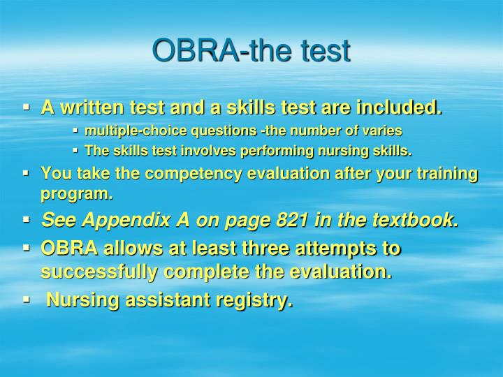 OBRA-the test