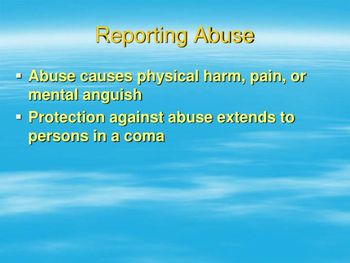 Reporting Abuse
