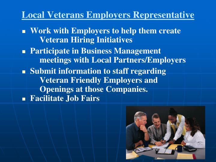Local Veterans Employers Representative