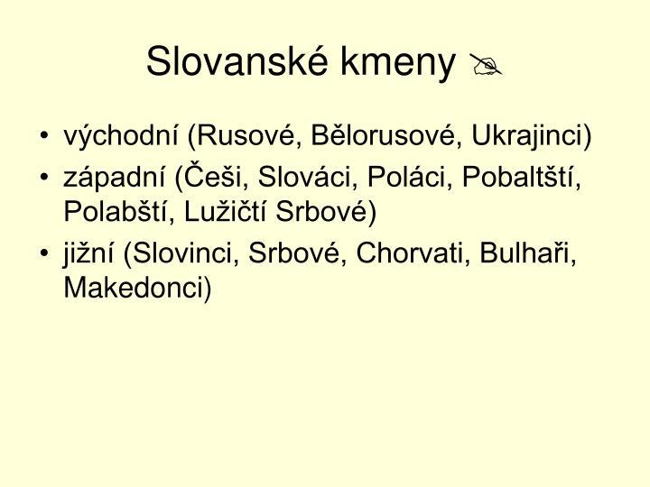 Slovanské kmeny