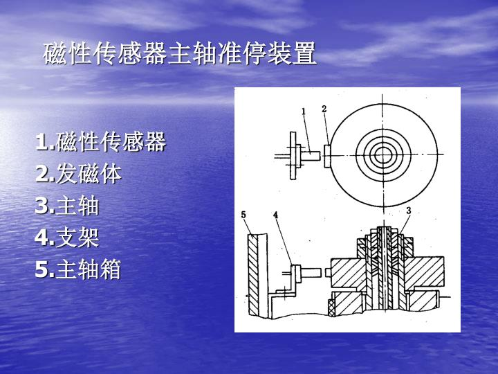 磁性传感器主轴准停装置