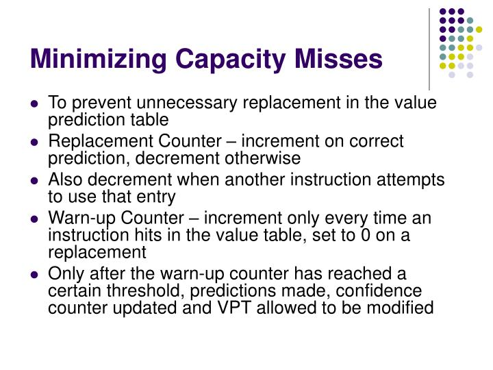 Minimizing Capacity Misses