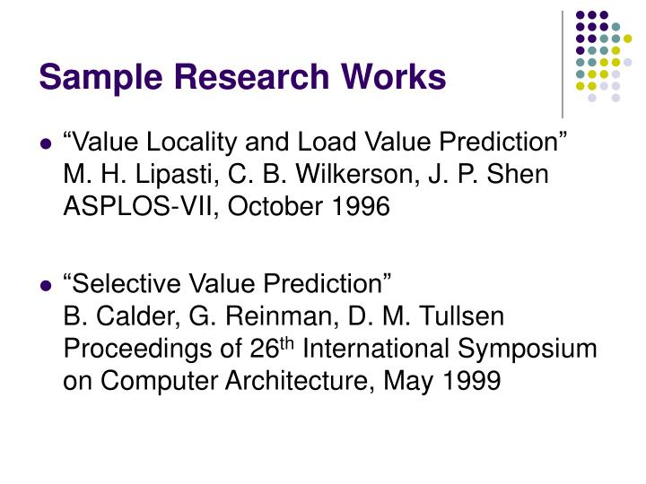 Sample Research Works