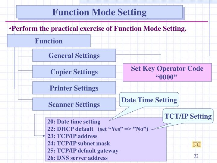 Function Mode Setting