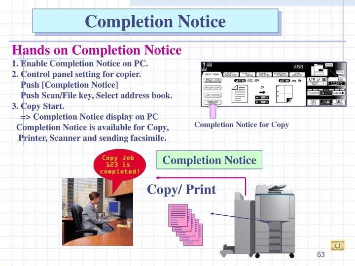 Completion Notice