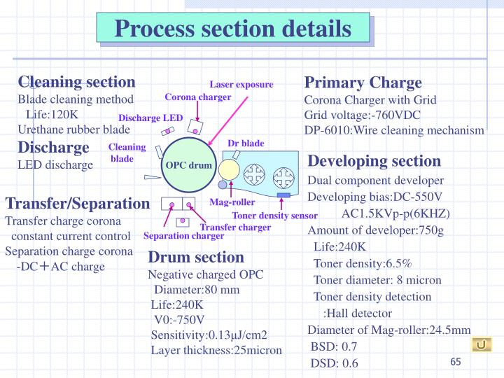 Process section details