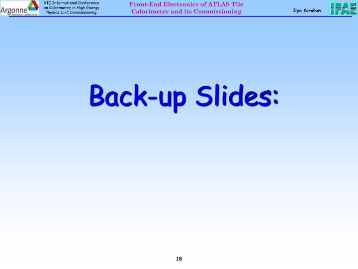 Back-up Slides: