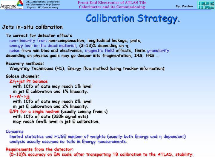 Calibration Strategy.