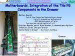 motherboards integration of the tile fe components in the drawer