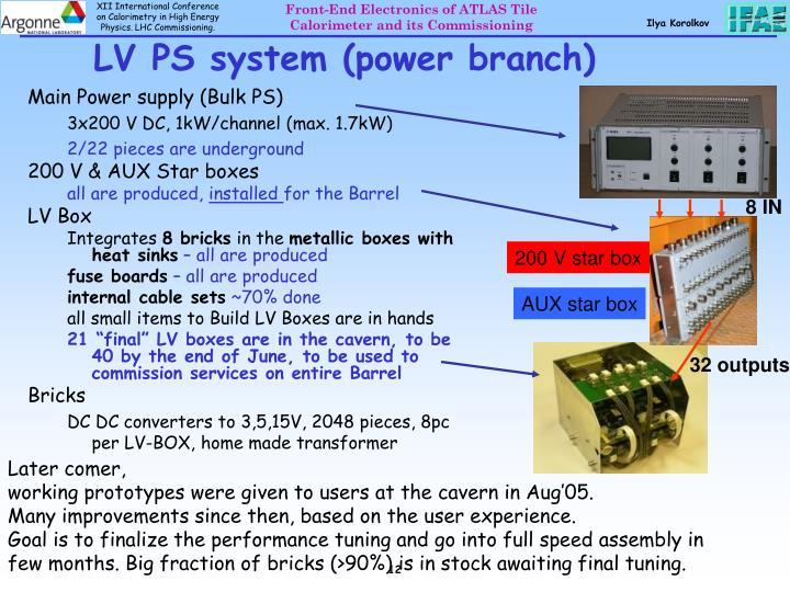 LV PS system (power branch)