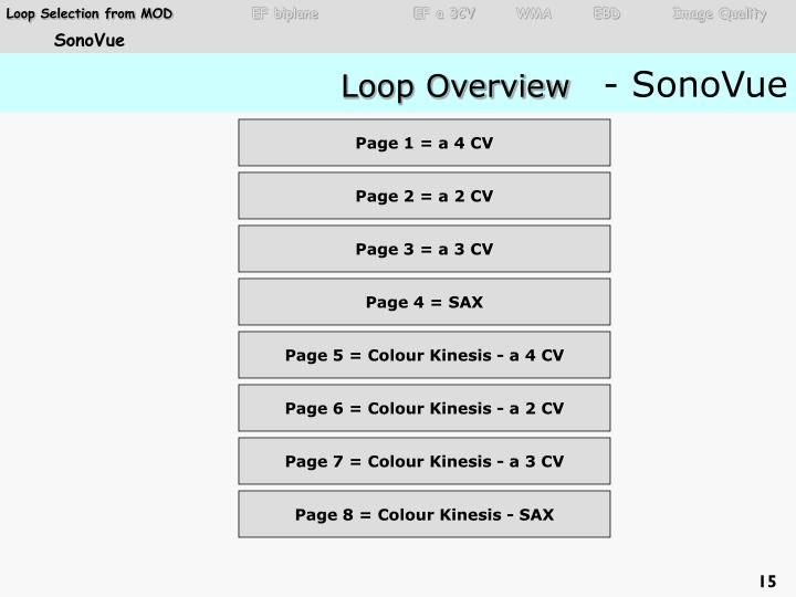 Loop Selection from MOD