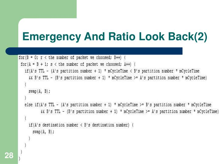 Emergency And Ratio Look Back(2)