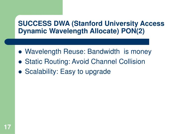 SUCCESS DWA (Stanford University Access Dynamic Wavelength Allocate) PON(2)