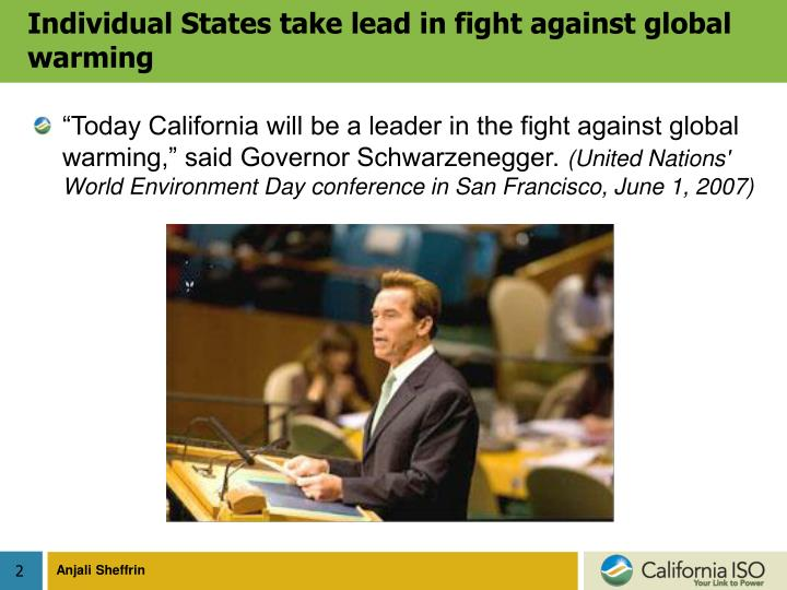 Individual states take lead in fight against global warming