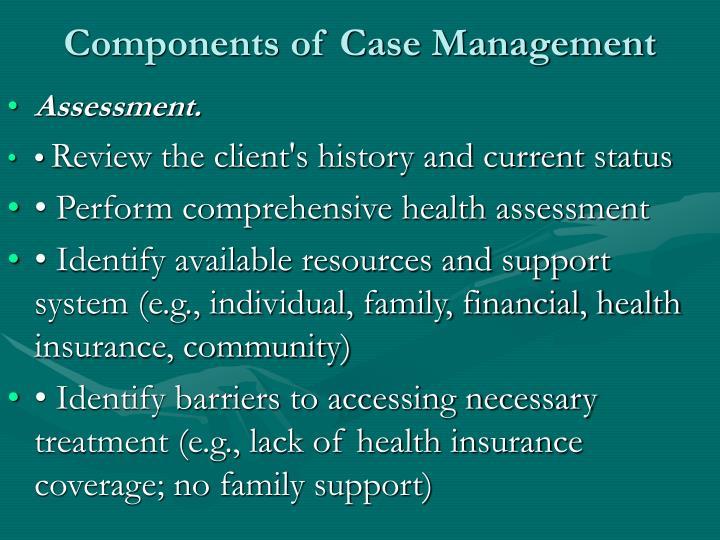 Components of Case Management