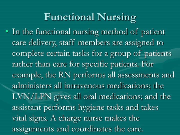 Functional Nursing
