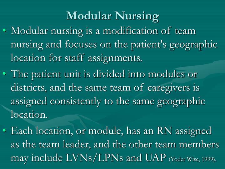 Modular Nursing