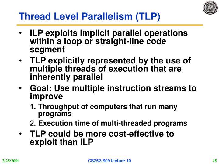Thread Level Parallelism (TLP)