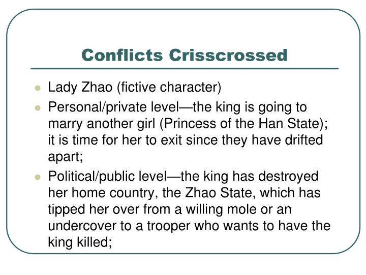 Conflicts Crisscrossed