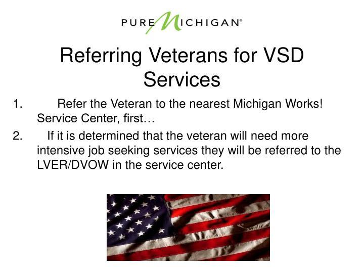 Referring Veterans for VSD Services