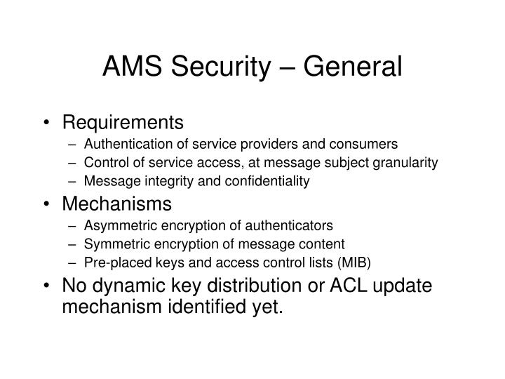Ams security general