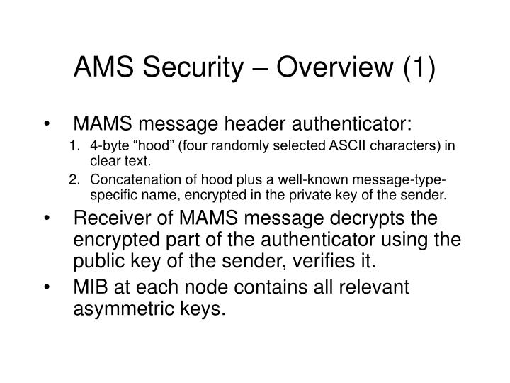 Ams security overview 1