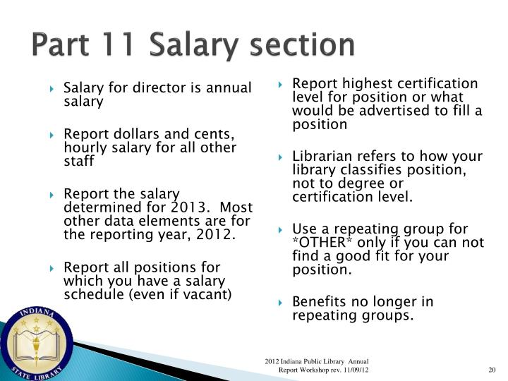 Part 11 Salary section
