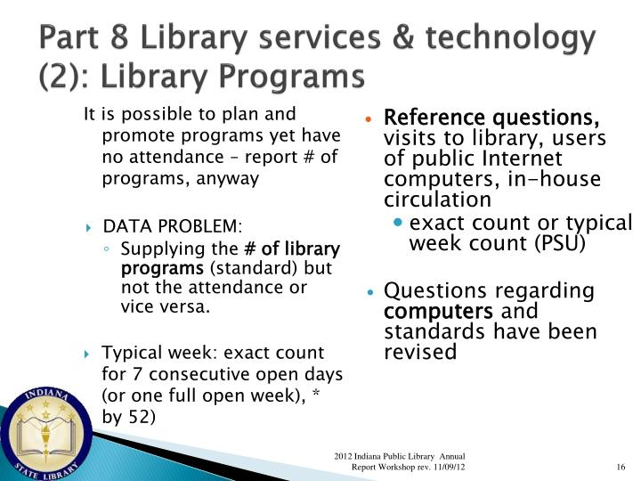 Part 8 Library services & technology