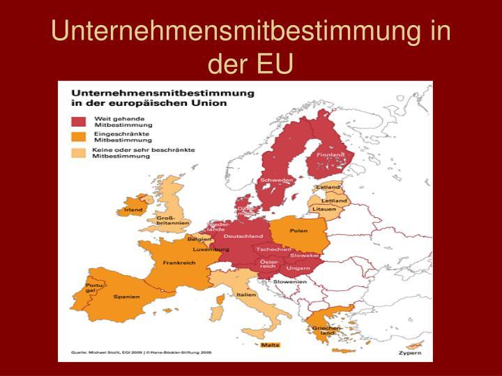 Unternehmensmitbestimmung in der EU