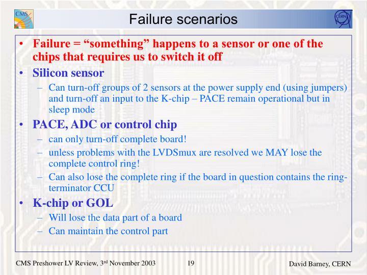 Failure scenarios