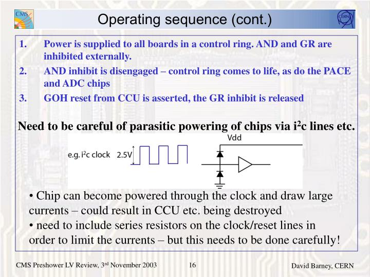 Need to be careful of parasitic powering of chips via i