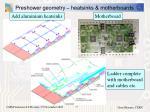 preshower geometry heatsinks motherboards
