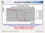 regulator constraint